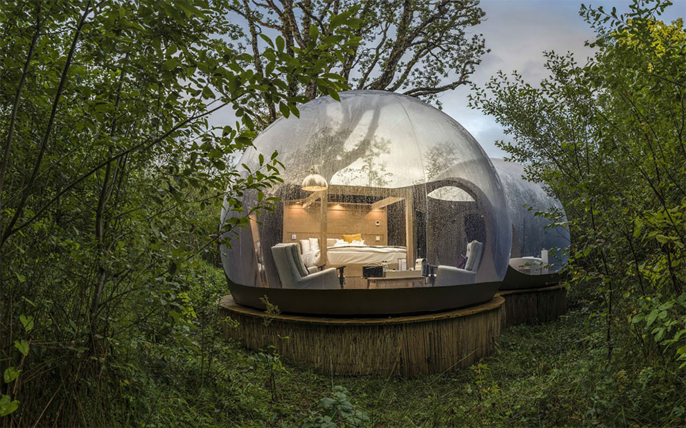 These Tiny Bubble Domes Let You Sleep Under The Stars