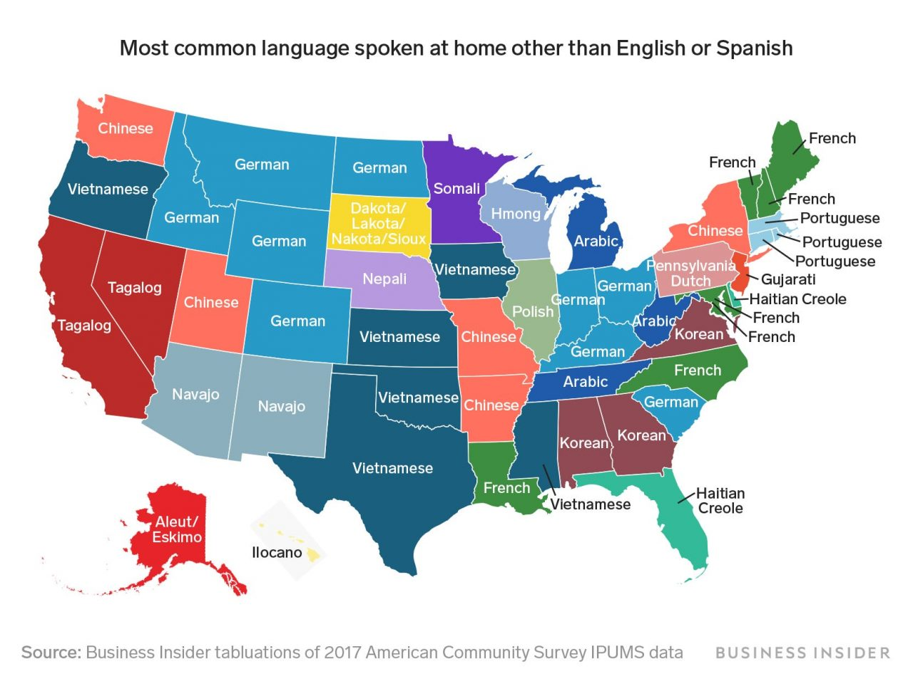 Most Common Languages Spoken In The Usa Other Than English Or